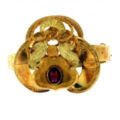 1800s Italian Gold Bangle Bracelet