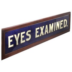 1800s Optometrists Store Front Sign