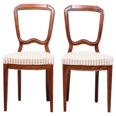1800s Period Pair of Dining or Side Chairs
