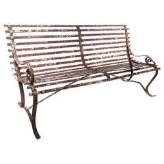 Riveted Van Dorn Iron Works Garden Bench