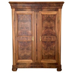 1800s Rustic Walnut Armoire, Restored