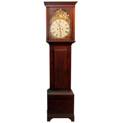 1800s Scottish Wooden Grandfather Clock
