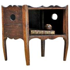 1800s Side Table Shelf Cabin Farmhouse Rustic Primitive Colonialist Nightstand