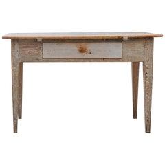 1800s Swedish Gustavian Folk Art Table / Desk