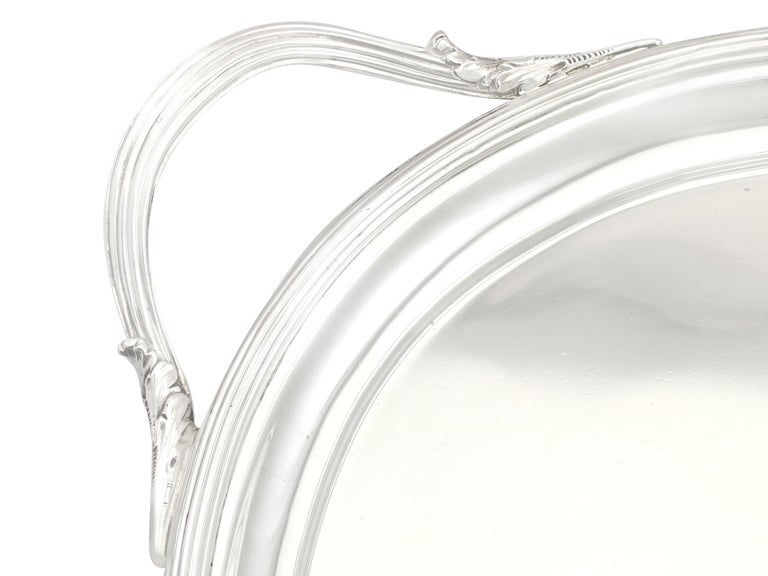 Early 19th Century 1802 Antique George III Sterling Silver Tray by William Stroud For Sale