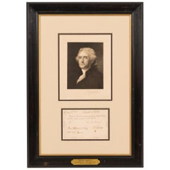 1802 Thomas Jefferson Signed Presidential Document Collage