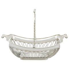 1806 Antique Sterling Silver Basket