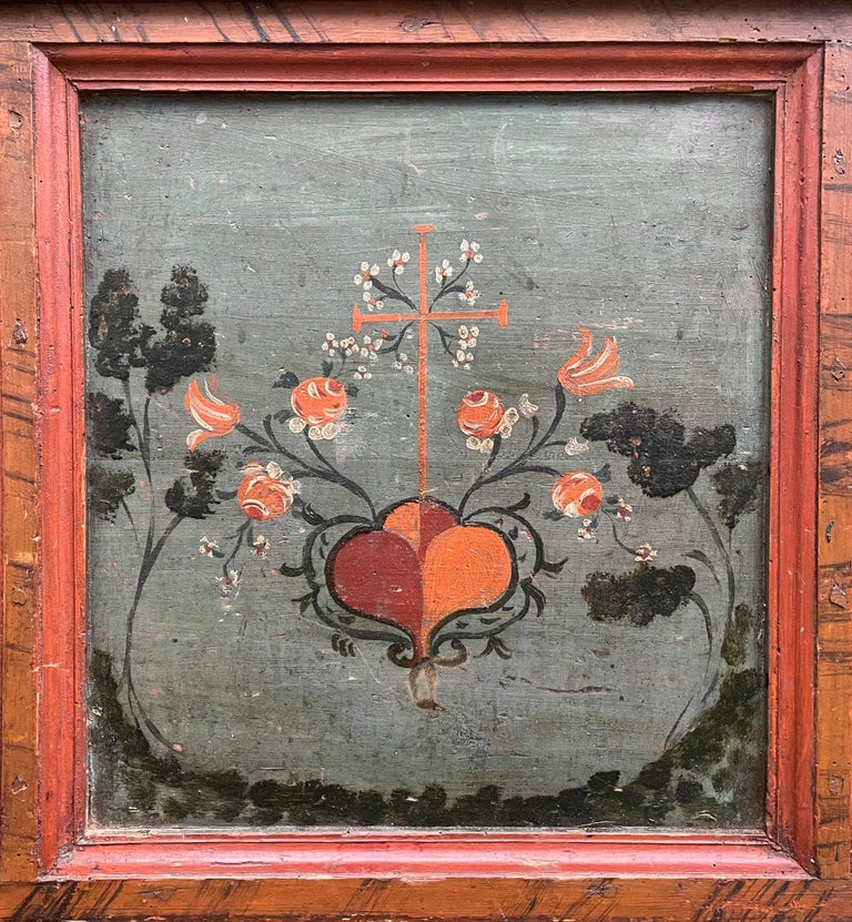 1807 Blu Painted Alpine Central Europe Blanket Chest In Good Condition For Sale In Albignasego, IT