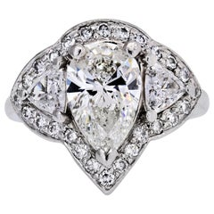 1.81 Carat GIA Pear Shape Diamond Engagement Ring