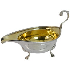 1810 Georgian Solid Silver Sauce or Gravy Boat on Three Feet