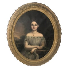 1810 Realism Oil Painting of Famous Young Girl