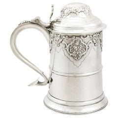1810s Antique Sterling Silver Quart Tankard by Dorothy Langlands
