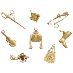 1810s French Yellow Gold Bracelet Charms Napoleonic Hussar