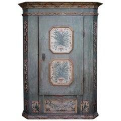 1814 Blu Floral Hand Painted Wardrobe