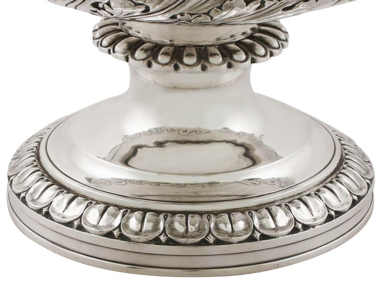 1816 Antique Georgian Sterling Silver Wine Coolers For Sale 6