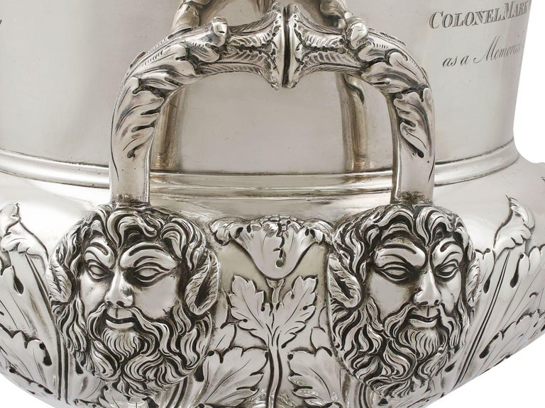 1816 Antique Georgian Sterling Silver Wine Coolers For Sale 7