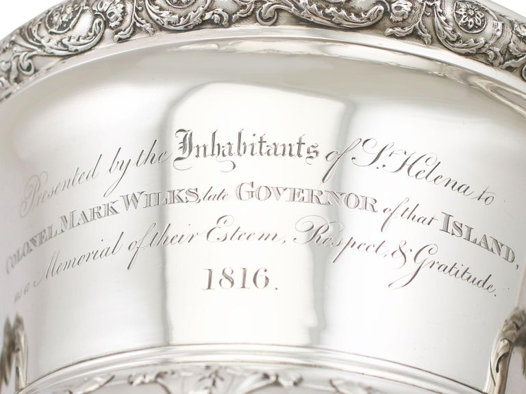 1816 Antique Georgian Sterling Silver Wine Coolers For Sale 8