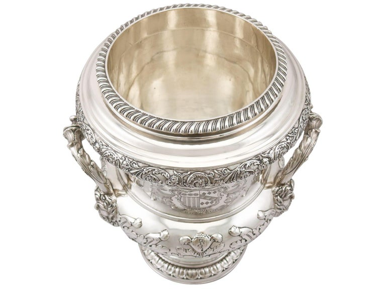 1816 Antique Georgian Sterling Silver Wine Coolers In Excellent Condition For Sale In Jesmond, Newcastle Upon Tyne
