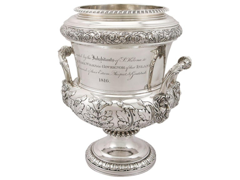 1816 Antique Georgian Sterling Silver Wine Coolers For Sale 1