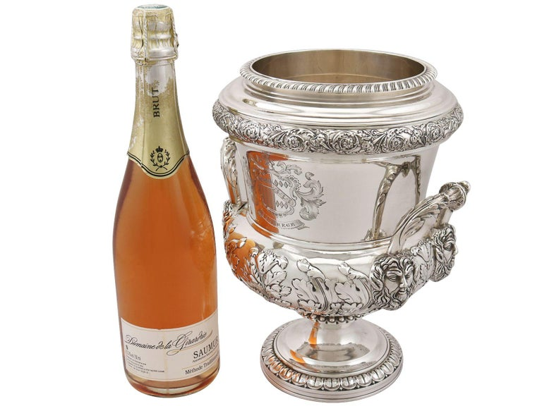 1816 Antique Georgian Sterling Silver Wine Coolers For Sale 2