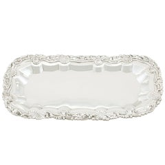 1818 Antique Sterling Silver Snuffer Tray