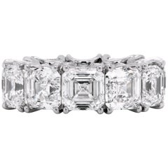18.18 Carat Asscher-Cut Diamond GIA Certified Platinum Eternity Band