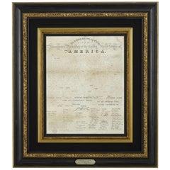 1818 Declaration of Independence Broadside, Engraved by Benjamin Owen Tyler
