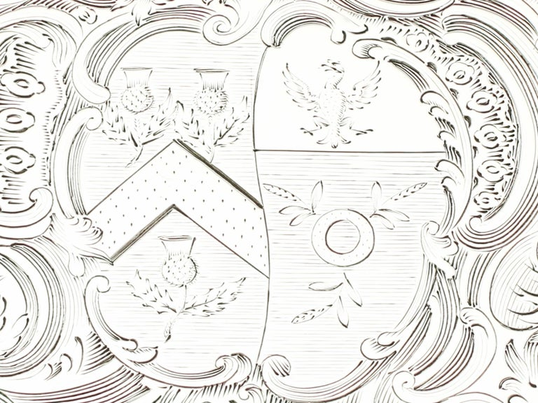 1819 Antique Sterling Silver Salver by Paul Storr For Sale 5