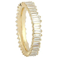 1.82 Carat Baguette Diamond 18 Karat Gold Ring