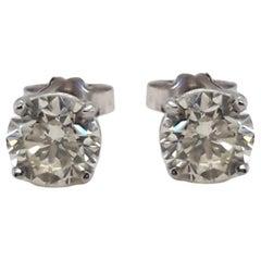 1.82 Carat Diamond Stud Earrings