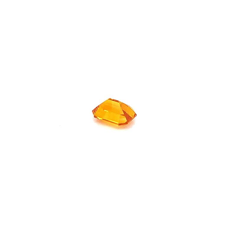 Emerald Cut 1.82 Carat Emerald-Cut Natural Orange Sapphire For Sale
