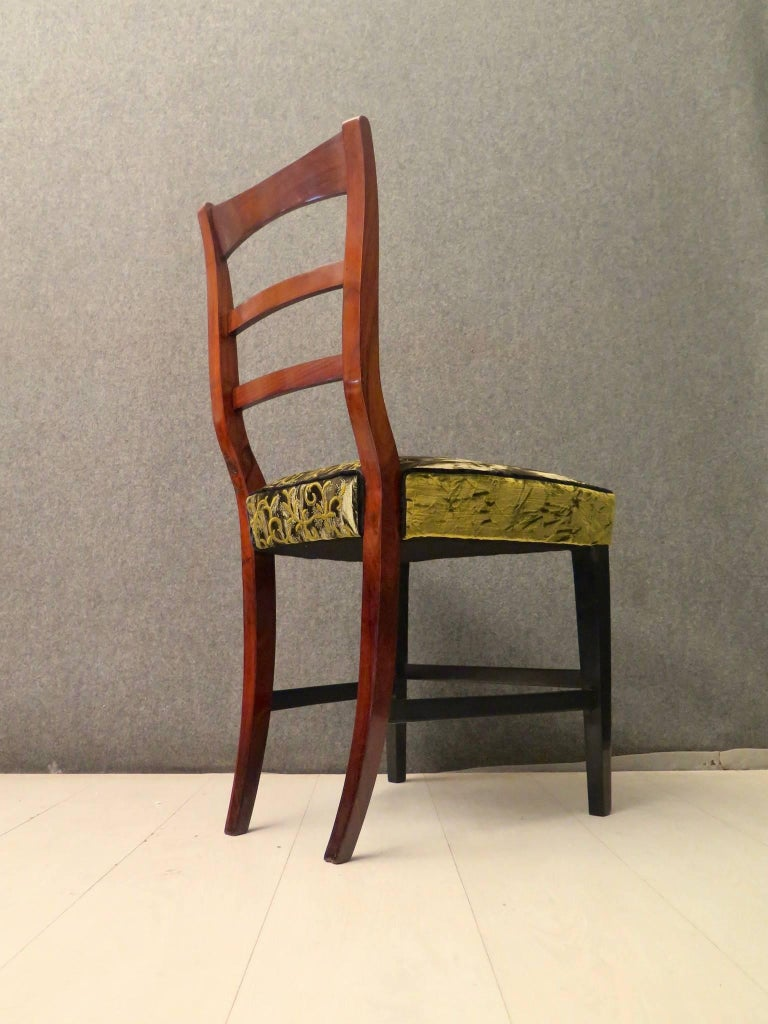 Biedermeier Walnut Wood Austrian Chair, 1820 For Sale 12
