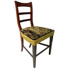 1820 Biedermeier Walnut Austrian Chair