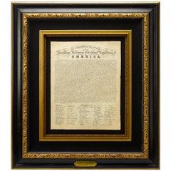 1820 Eleazar Huntington Engraved Declaration of Independence Printed Broadside