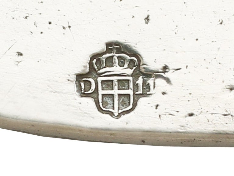 1820s Antique Italian Silver Meat Fish Platter For Sale 2