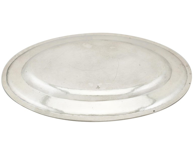 1820s Antique Italian Silver Meat Fish Platter For Sale 4