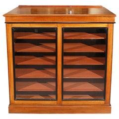 1820s English William IV Mahogany Portfolio Cabinet