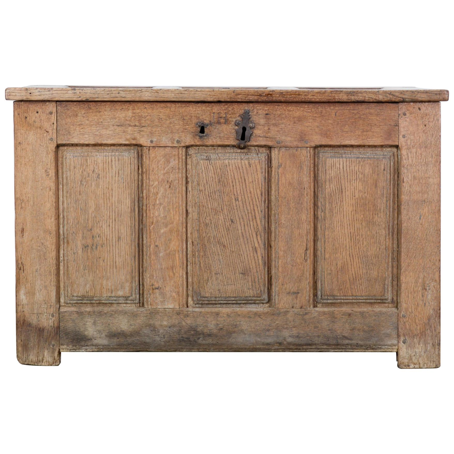 1820s French Wooden Trunk