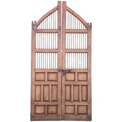 1820s Solid Teak Wood Side Entry Door of a Feudal Landlord's Court Yard Home