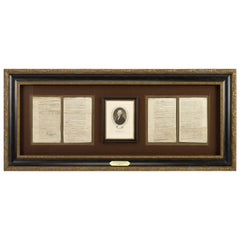 1829 Declaration of Independence Draft by Thomas Jefferson, Antique Engraving
