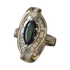 1.83 Carat Green Tourmaline Ballerina Ring