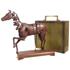 1830 Articulated Artist's Horse Model and Case