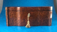 1830 French Burr Yew Serpentine Fronted Box