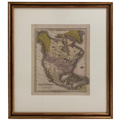 1830 Mexico and United States Framed Map