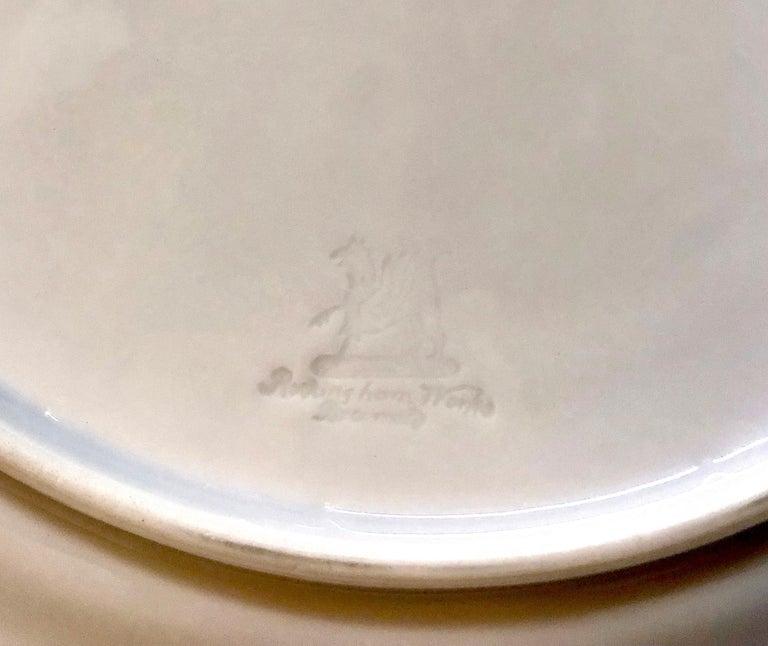 1830 Rockingham Porcelain Dinner Plates, set of 12 For Sale 3