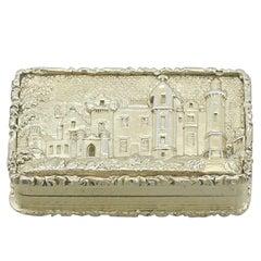 1830s Antique Sterling Silver Gilt Vinaigrette