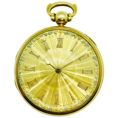 1830s John Moncas Liverpool 18 Karat Gold Pocket Watch with Fussee Movement