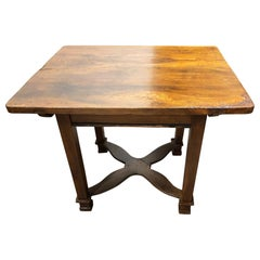 1830s Sideboard Table in Solid Walnut Sliding and Open Top Special Design