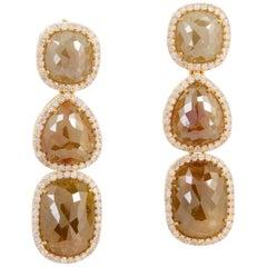 18.31 Carat Fancy Diamond 18 Karat Gold Earrings