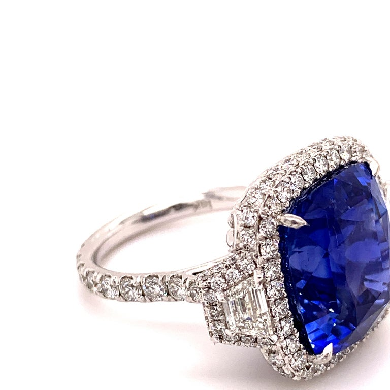 18.33 Carat Ceylon Unheated Sapphire Ring In New Condition For Sale In Richmond, BC